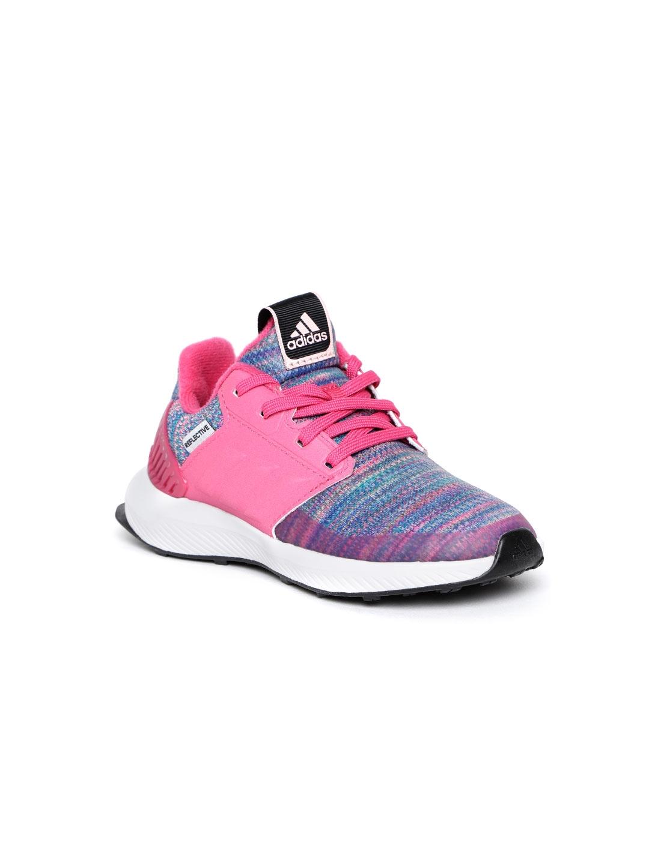 e9fe957eae592c Buy ADIDAS Kids Pink   Blue Rapidrun BTW Running Shoes - Sports ...