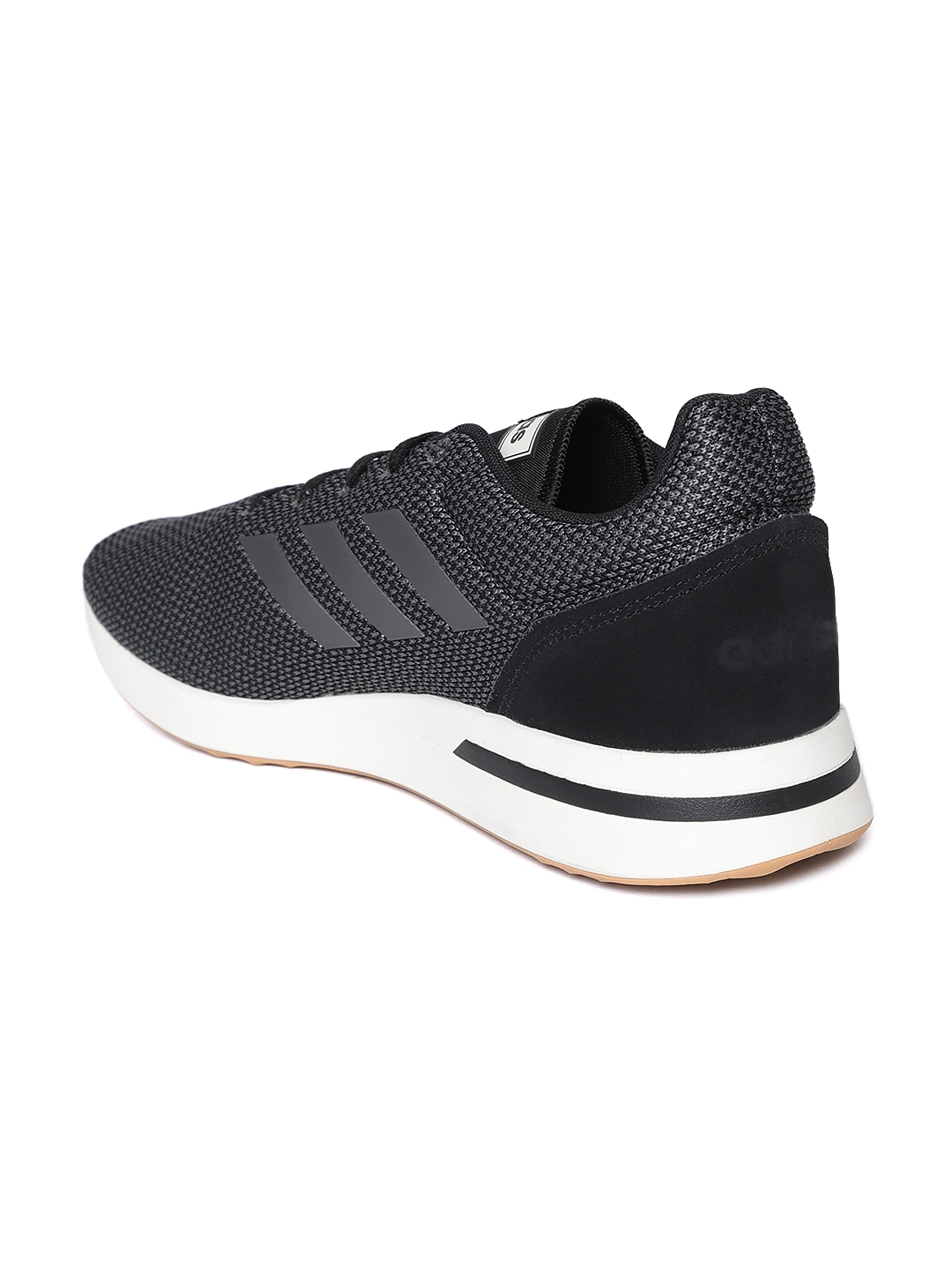 sports shoes eed6b b358c Adidas Men Black   Grey Run 70S Woven Design Running Shoes
