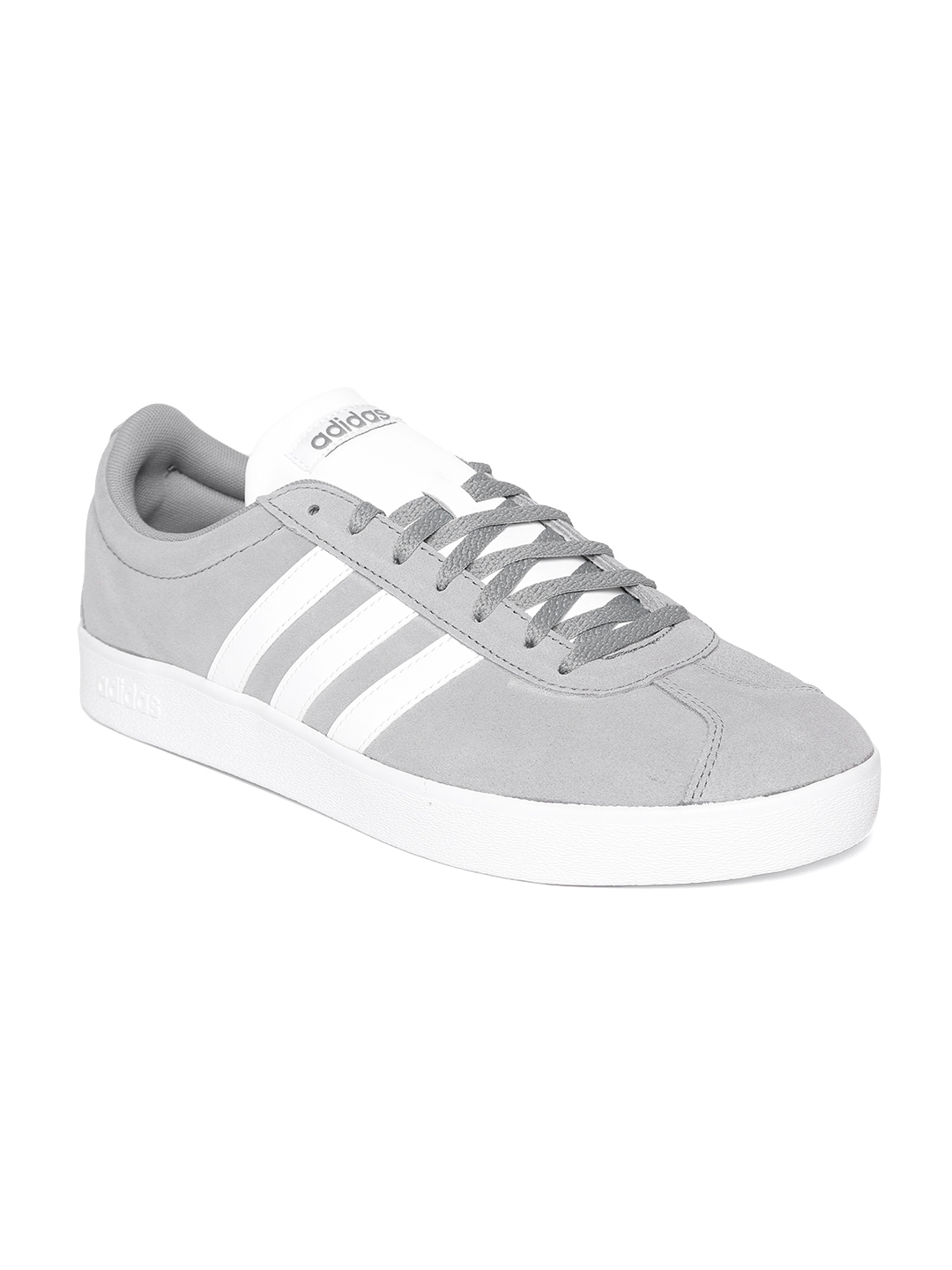 new styles cd9ea 69b69 ADIDAS Originals Men Grey VL Court 2.0 Suede Skateboarding Shoes