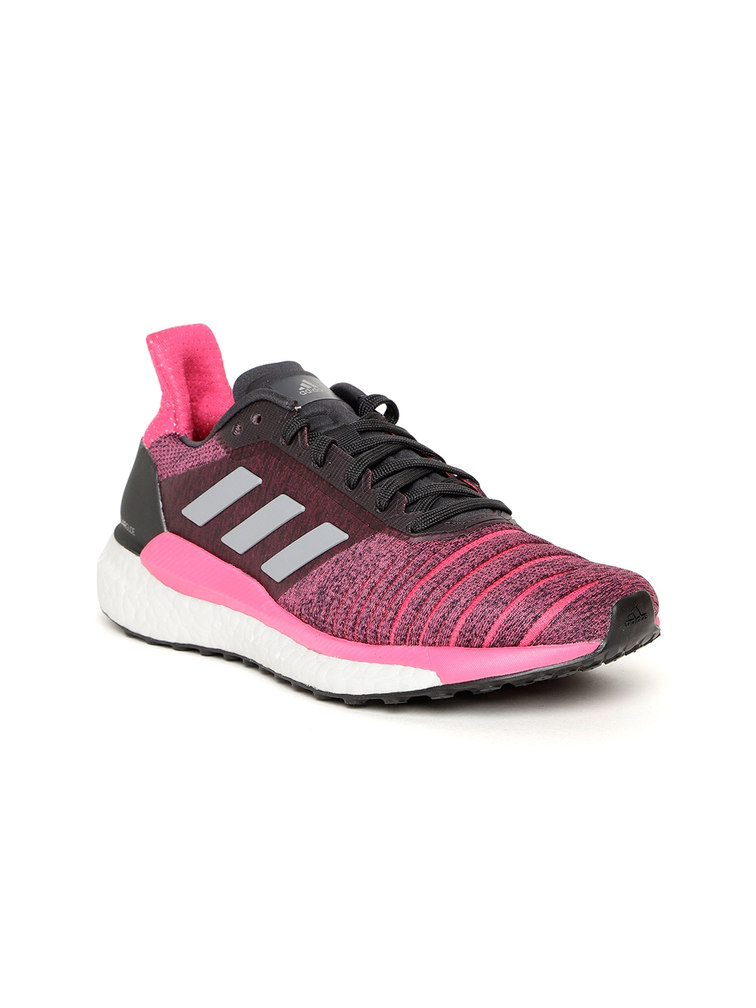 finest selection b707c 08073 ADIDAS Women Pink   Black Solar Glide Running Shoes