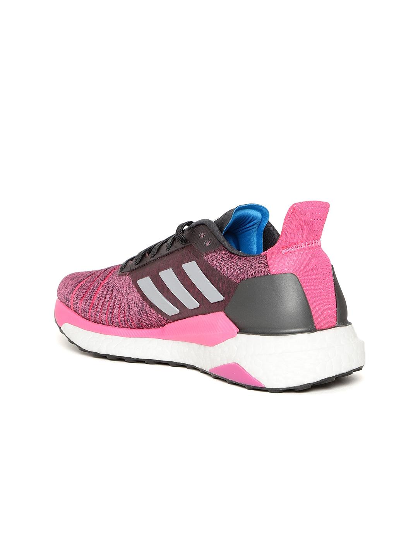 the best attitude 83dc8 de3ec ADIDAS Women Pink  Black Solar Glide Running Shoes