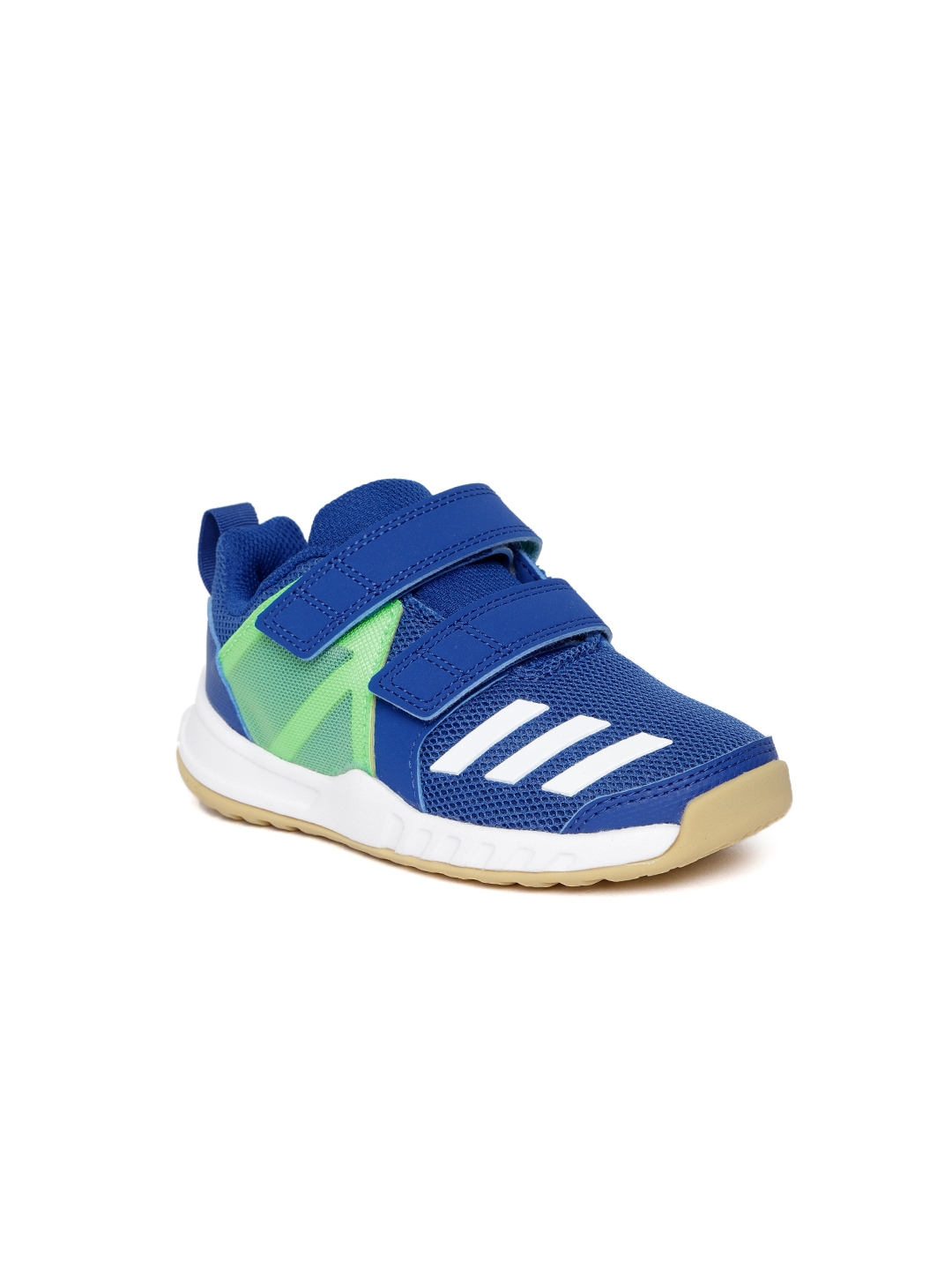 low priced 443e6 ddaf8 ADIDAS Kids Blue  Green FORTAGYM CF Training Shoes