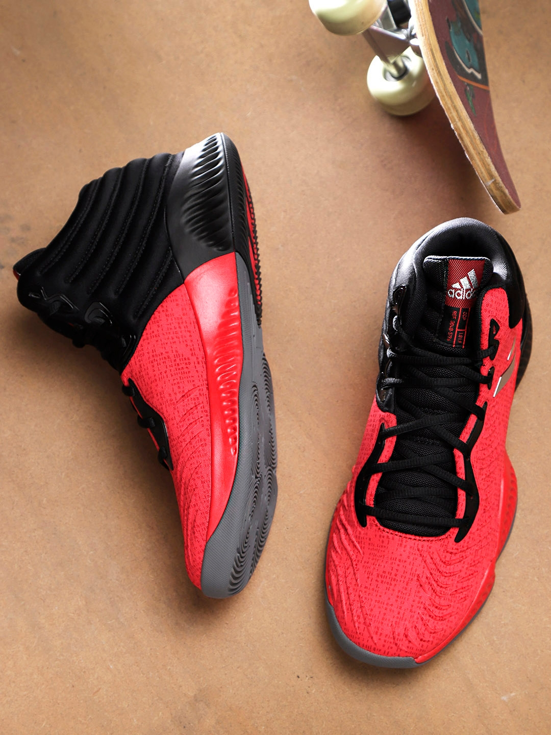 6bd749f2d74 Buy ADIDAS Men Red   Black Mad Bounce 2018 Mid Top Basketball Shoes ...