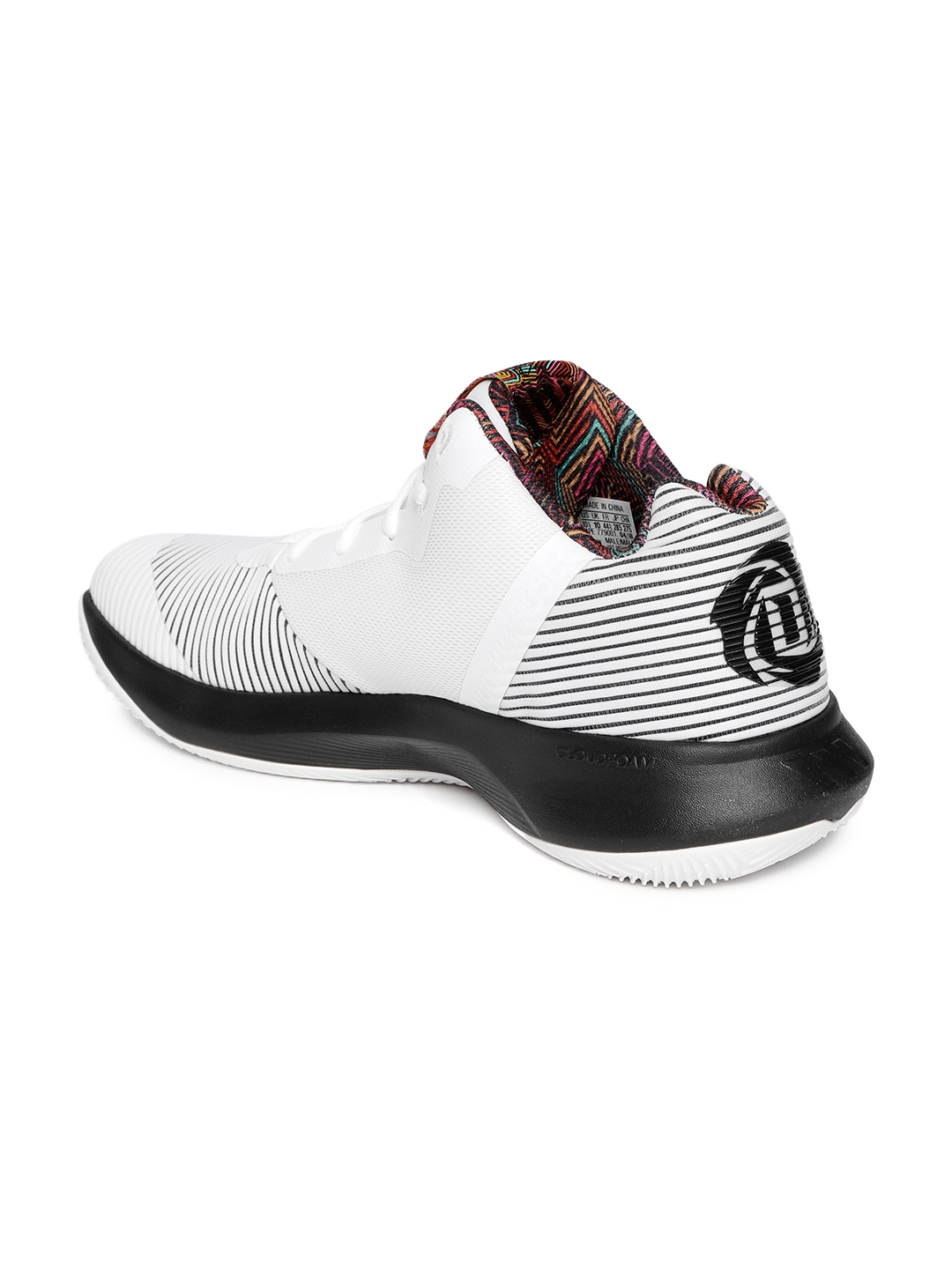 more photos 72952 5bc6c ADIDAS Men White  Black D Rose Lethality Basketball Shoes