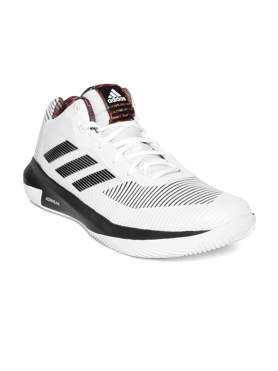 55cf63a67c5a Buy ADIDAS Men White   Black D Rose Lethality Basketball Shoes ...