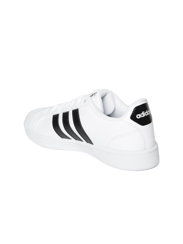 info for 45518 a21a8 ADIDAS Women White Cloudfoam Advantage Tennis Shoes