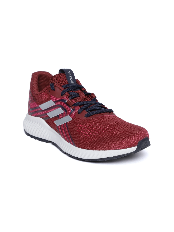 low cost f1cde 21450 ADIDAS Women Maroon AEROBOUNCE 2 Woven Design Running Shoes