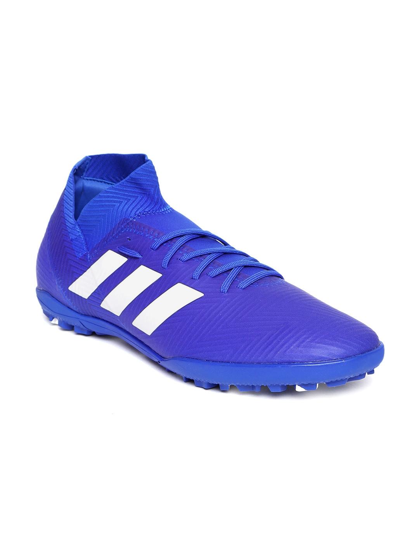 outlet store sale bf597 18595 ADIDAS Men Blue NEMEZIZ Tango 18.3 Turf Boots Football Shoes