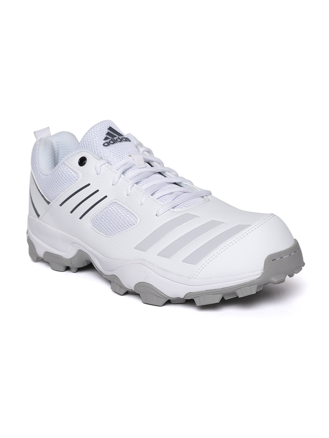 4447771760080f Buy ADIDAS Men White Cricket Shoes - Sports Shoes for Men 6841995 ...