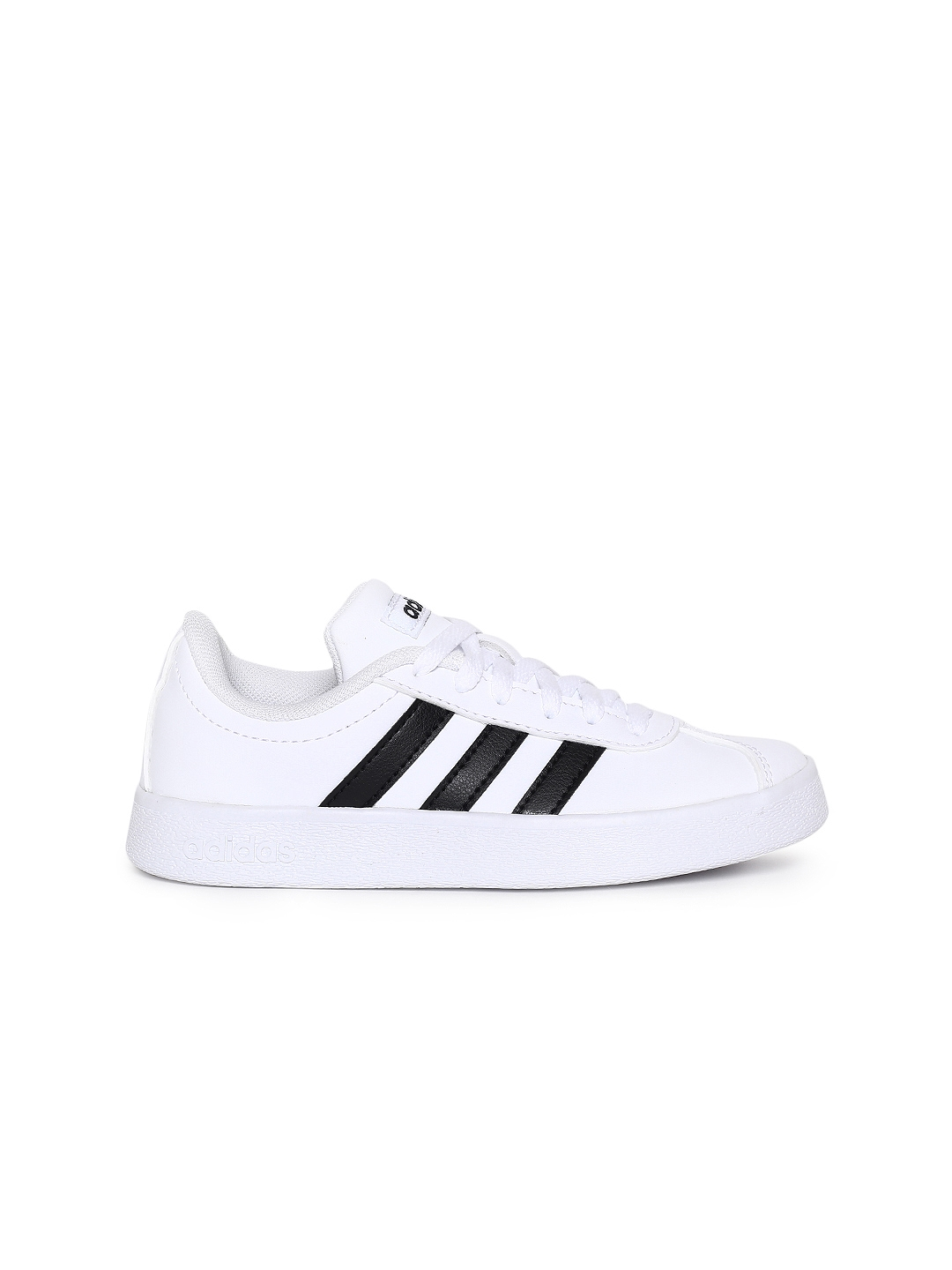 311bdc3bb77 Buy ADIDAS Kids White Solid VL COURT 2.0 K Tennis Shoes - Casual ...