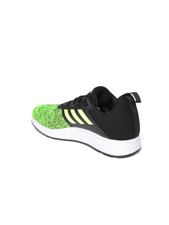 4c5b07c01bd060 Buy ADIDAS Kids Fluorescent Green   Black Element V 6 Running Shoes ...