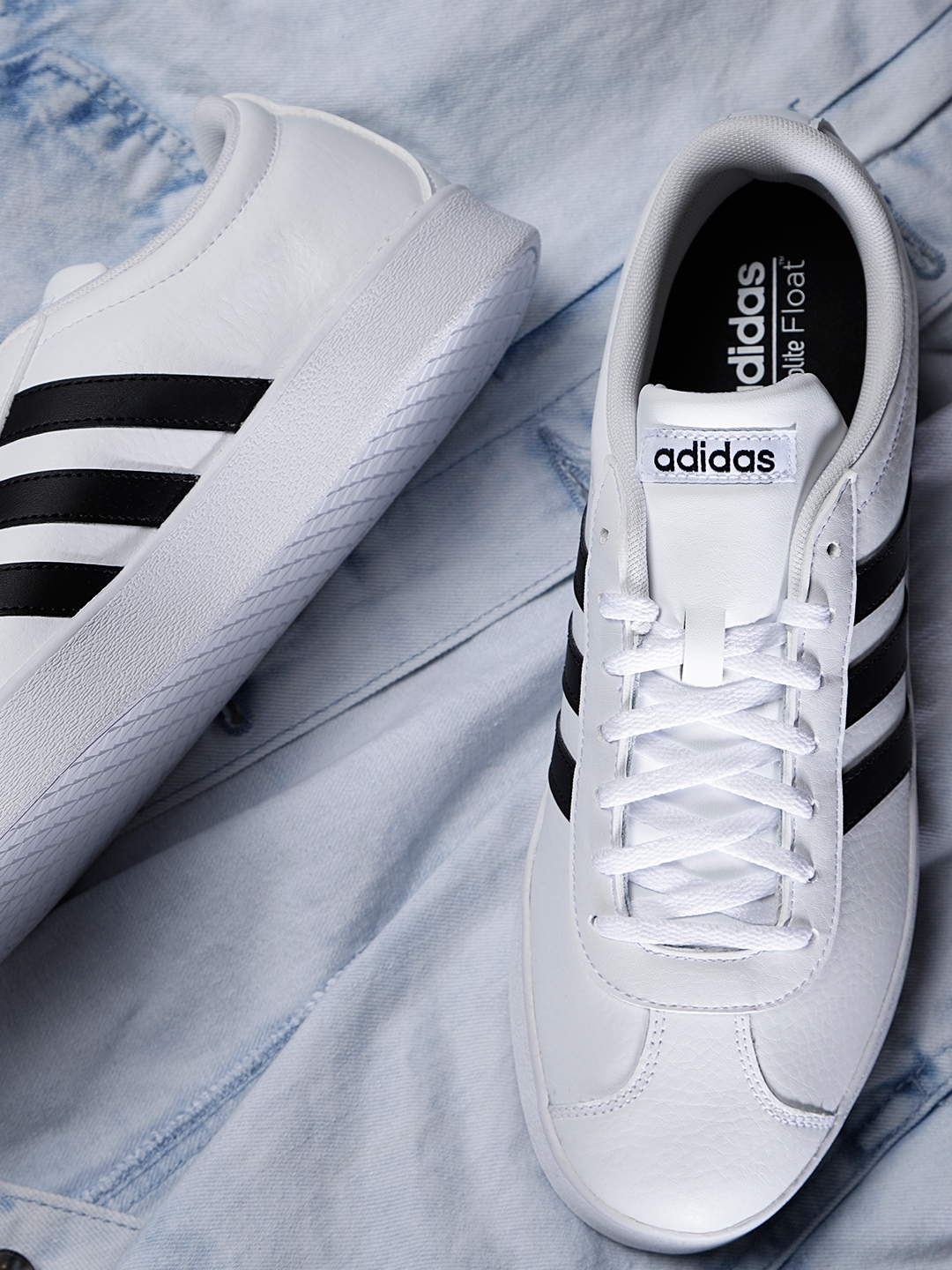 490265cde7306 ADIDAS Originals Men White VL Court 2.0 Leather Skateboarding Shoes. This  product ...