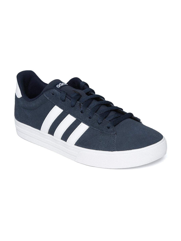 watch 6b81a 7a973 ADIDAS Men Navy Blue DAILY 2.0 Basketball Shoes