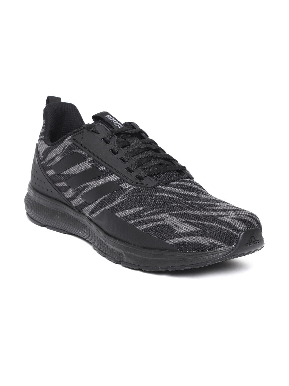 1792b24a7ee78 Buy ADIDAS Men Black   Charcoal Grey KYRIS 3.0 Printed Running Shoes ...