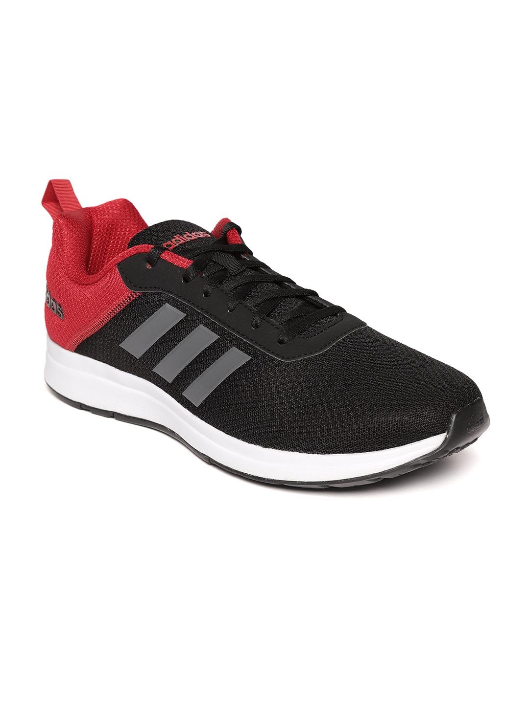 c8977ed21f4 Buy ADIDAS Men Black   Red ADISPREE 3 Colourblocked Running Shoes ...