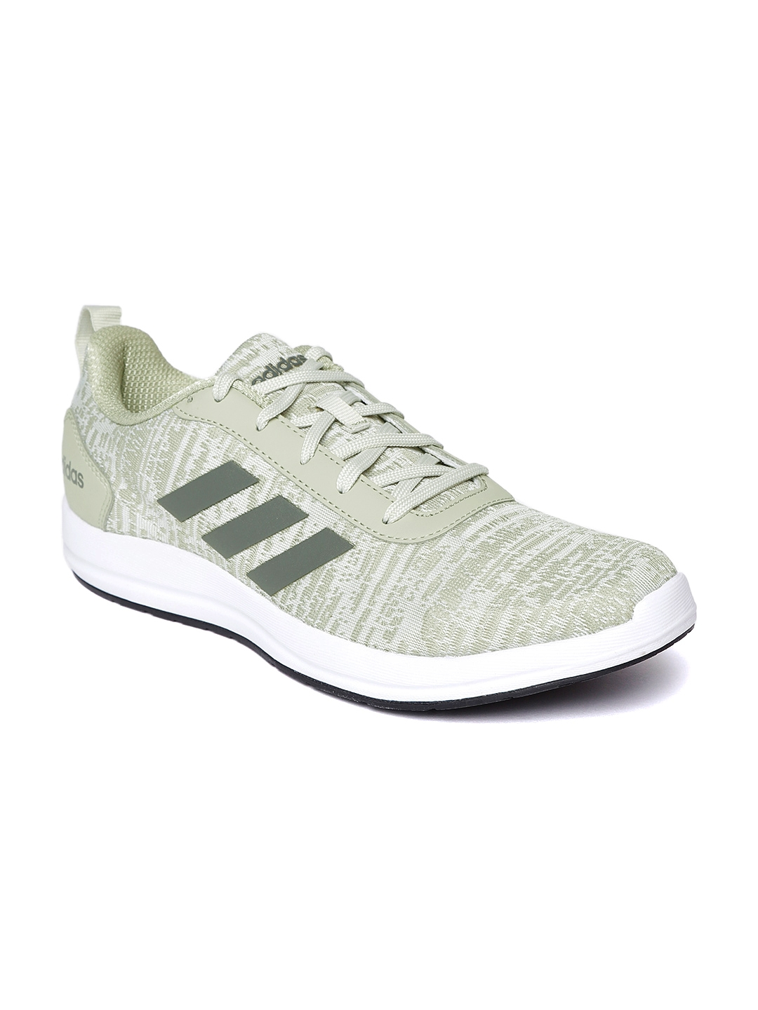 235ce8260a05 Buy ADIDAS Men Grey   Olive Green VIDELL Running Shoes - Sports ...