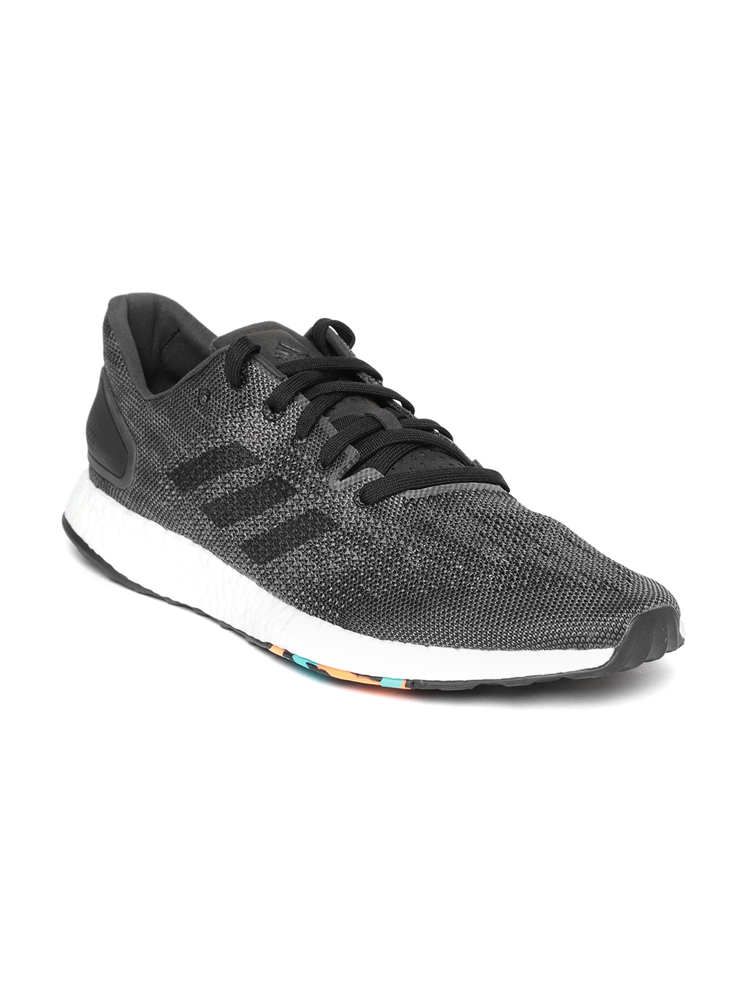 5f6d7d1904d95 Buy ADIDAS Men Charcoal Grey PureBoost DPR Running Shoes - Sports ...