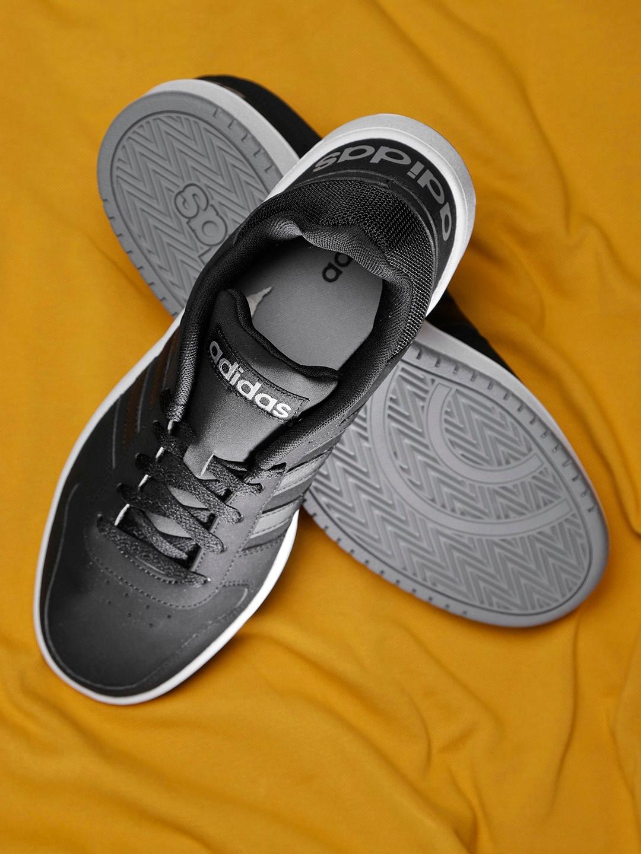 official photos 49a01 7cbde ADIDAS Men Black Hoops 2.0 Basketball Shoes