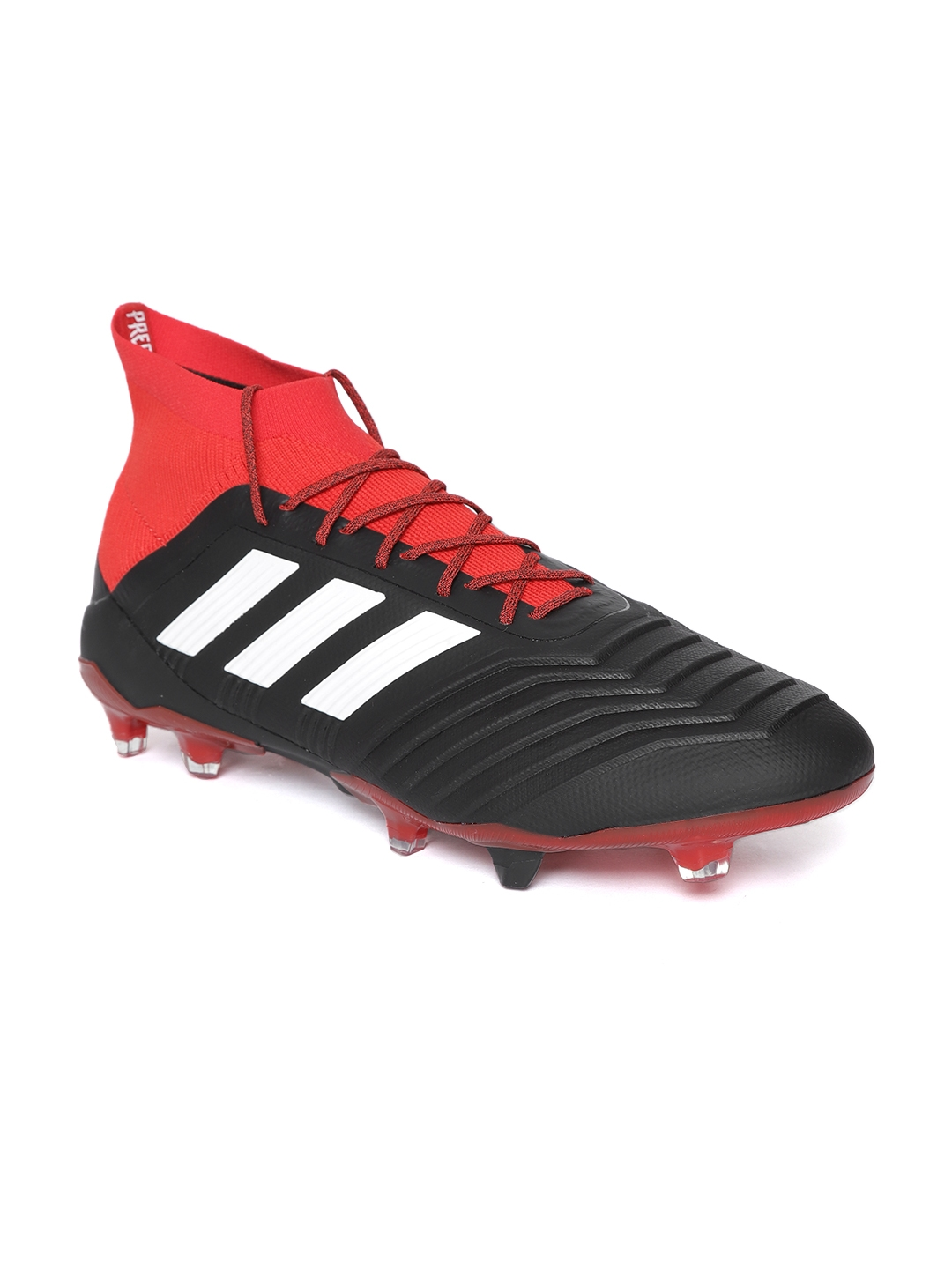 4044eb5dd1e Buy ADIDAS Men Black   Red Predator 18.1 FG Football Shoes - Sports ...