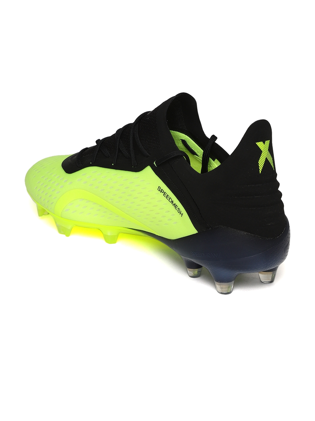 check out 55bc1 7885c ADIDAS Men Florescent Green   Black X 18.1 FG Football Shoes