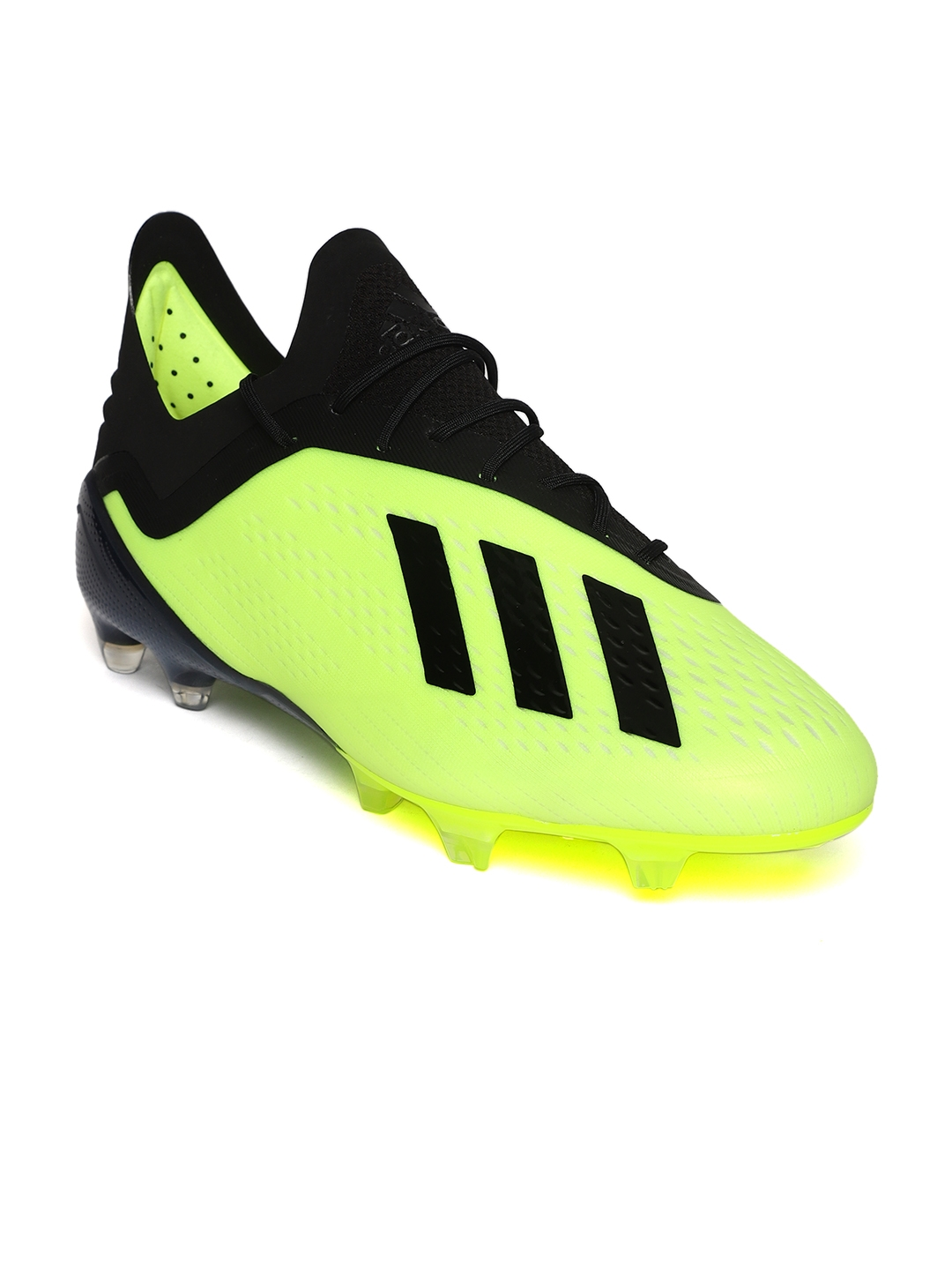 Buy ADIDAS Men Florescent Green   Black X 18.1 FG Football Shoes ... 4f5953355