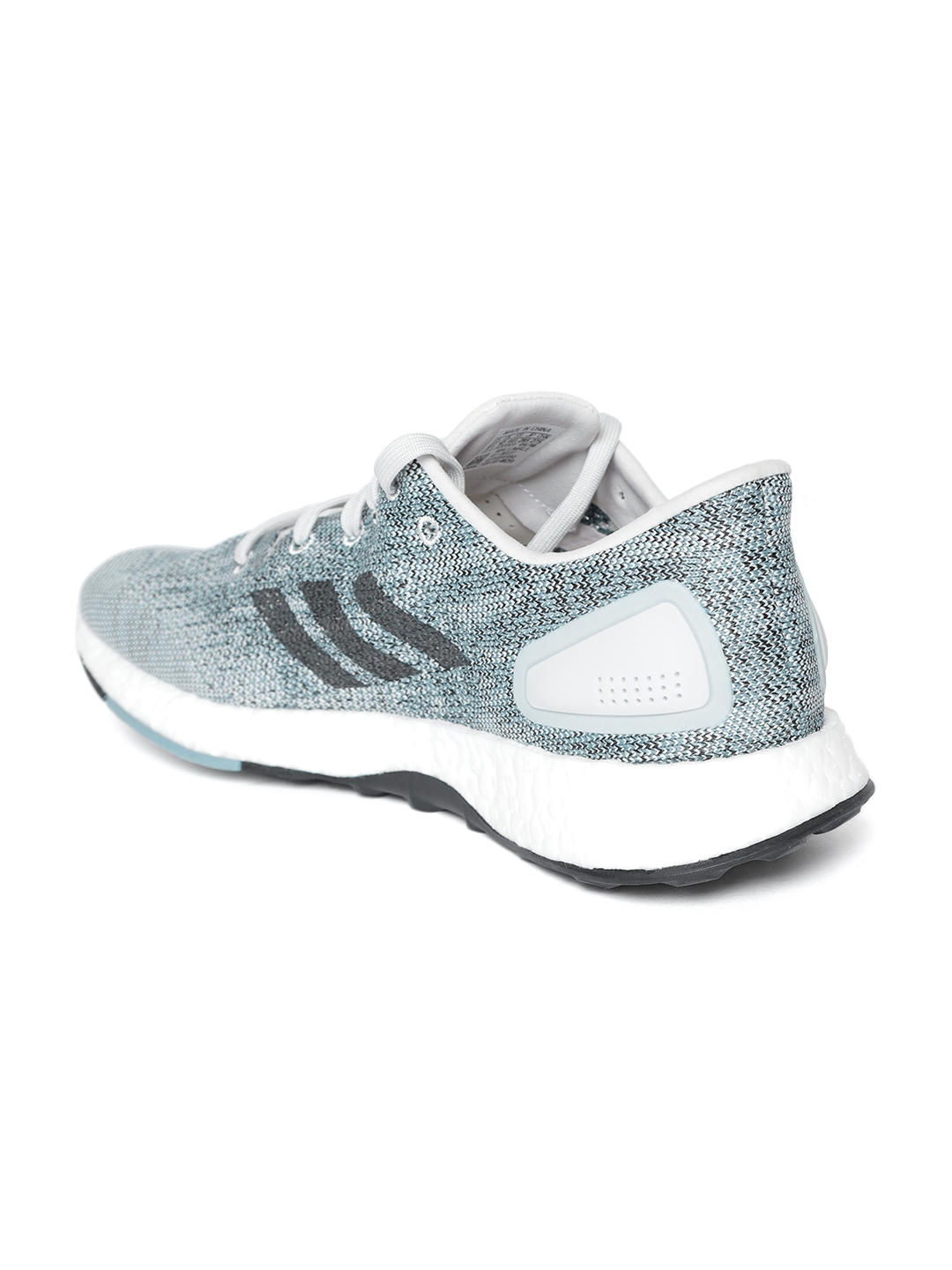 dea0ecdc4 Buy ADIDAS Men Grey   Off White Pure Boost DPR Running Shoes ...