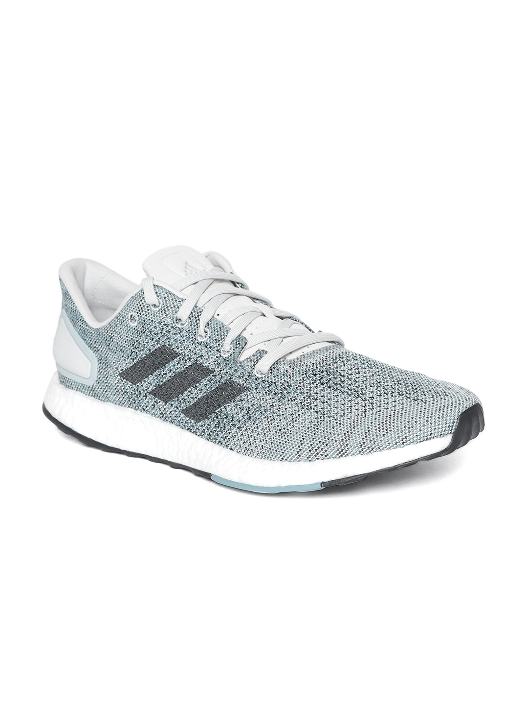 d8ca3cf40148d Buy ADIDAS Men Grey   Off White Pure Boost DPR Running Shoes - Sports Shoes  for Men 6842158