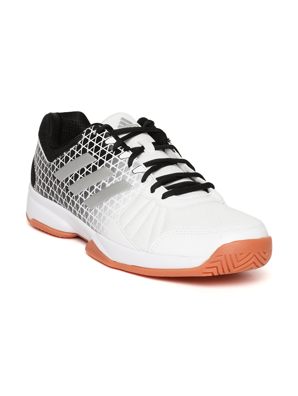 Buy ADIDAS Men White   Black Net Nuts Indoor Badminton Shoes ... bf2480111