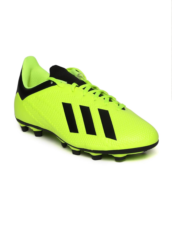 Buy ADIDAS Men Fluorescent Green X 18.4 Flexible Ground Football ... 22c915353fa