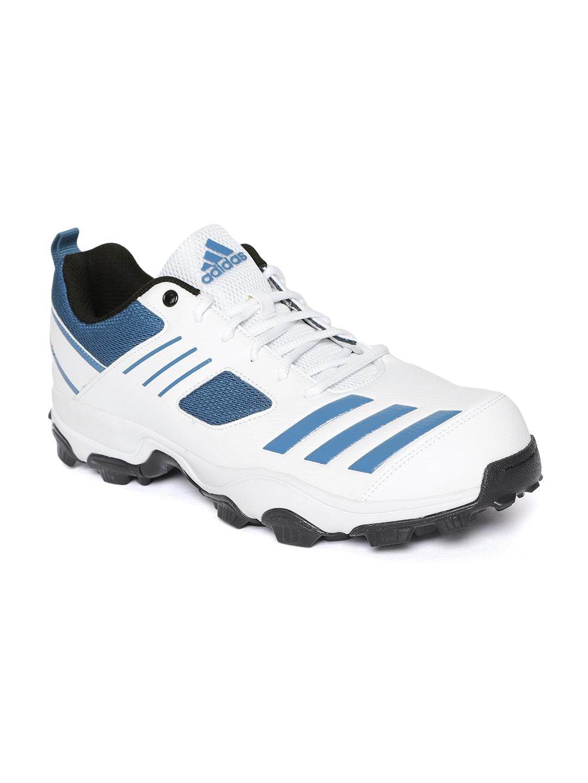 3f775fd561ba9b Buy ADIDAS Men White   Teal Blue CRI HASE Cricket Shoes - Sports ...
