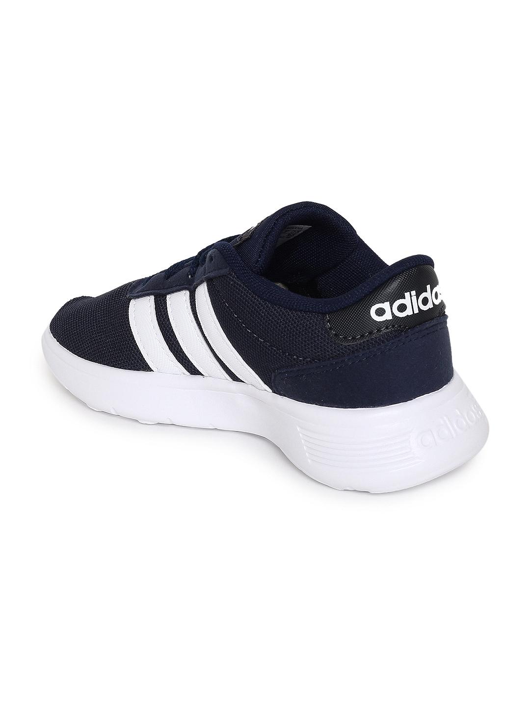 5d321d8760cf4a Buy ADIDAS Kids Navy Blue Solid Lite Racer K Running Shoes - Sports ...
