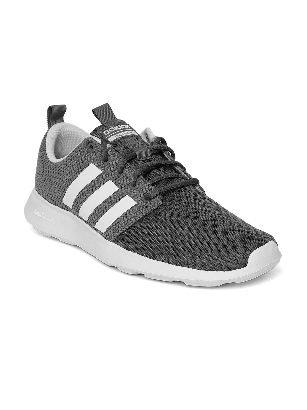 great fit quite nice cheapest price ADIDAS Men Grey Cloudfoam Swift Racer Running Shoes