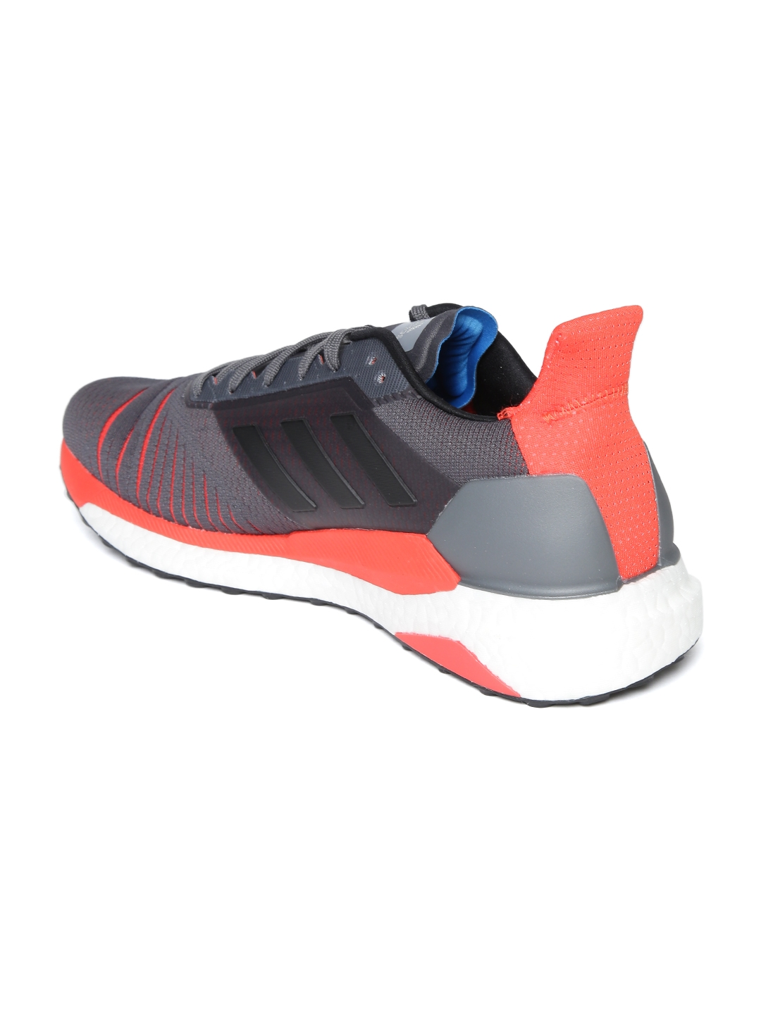 huge discount 2e38c 62721 ADIDAS Men Charcoal Grey   Coral Pink Solar Glide Running Shoes