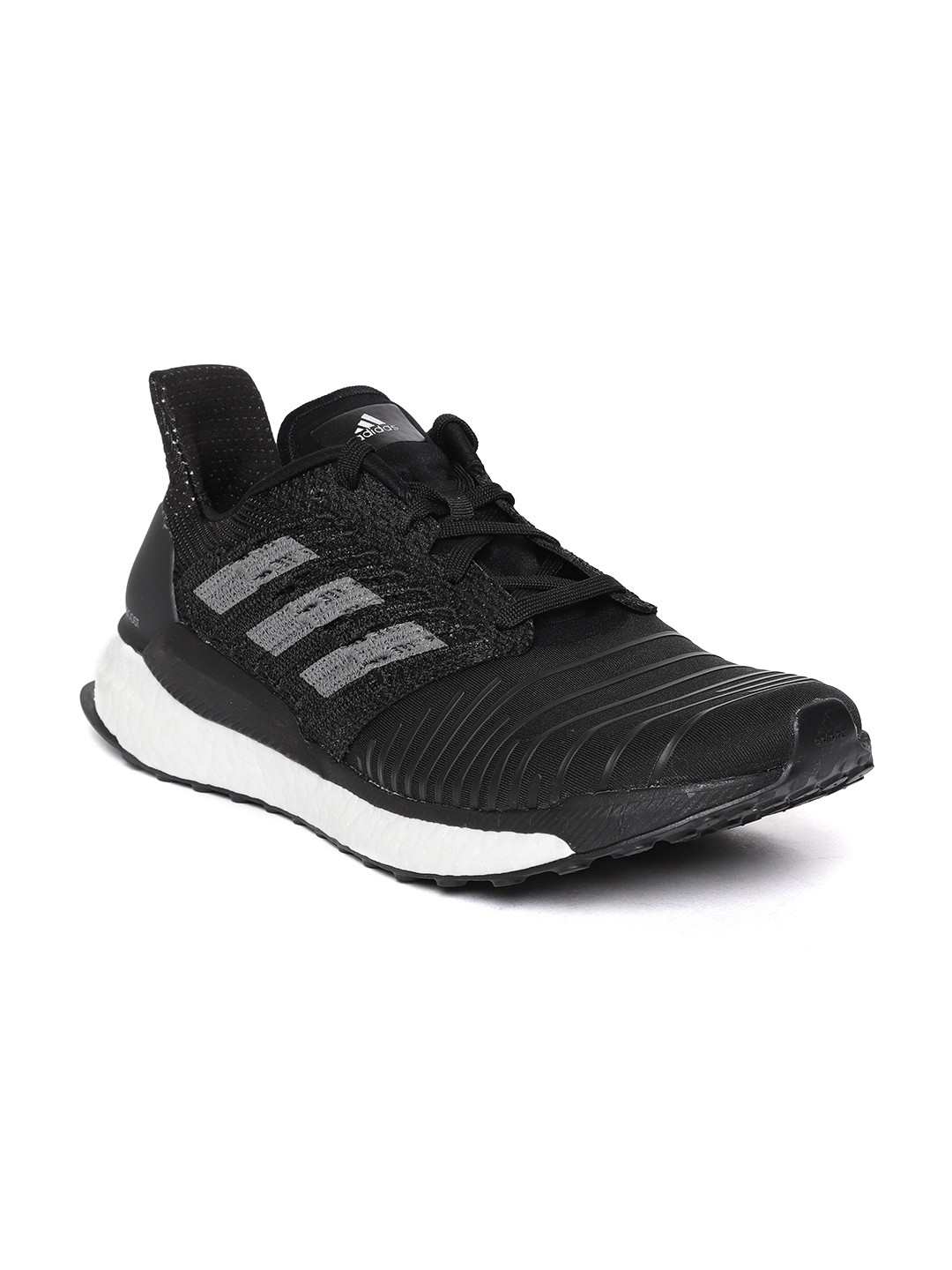 4fa31d0905438 Buy ADIDAS Men Black Solar Boost Striped Running Shoes - Sports ...
