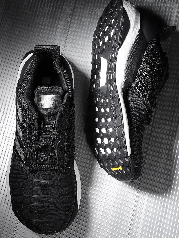 da5b3a54c Buy ADIDAS Men Black Solar Boost Striped Running Shoes - Sports ...