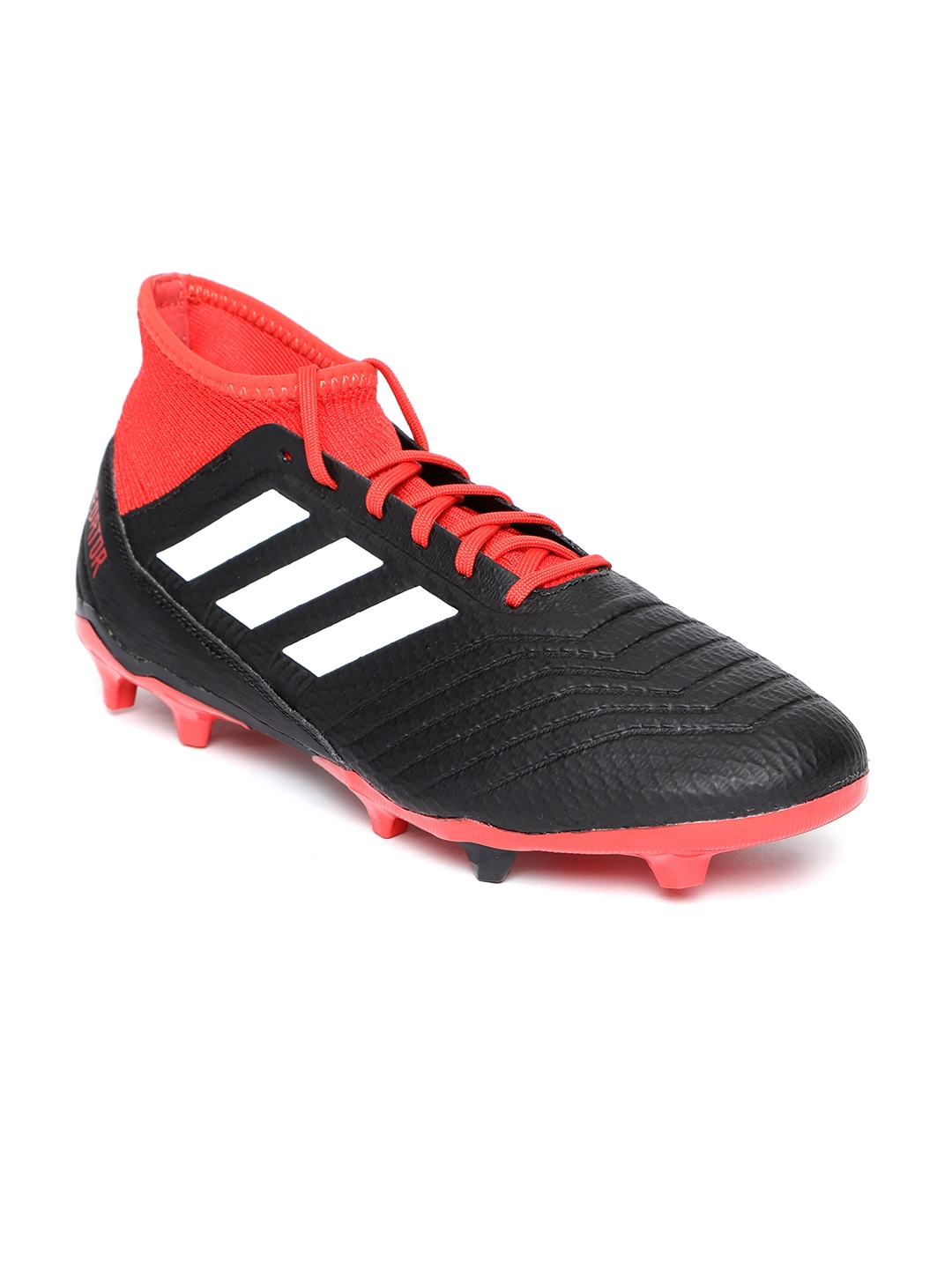 reputable site e47b6 2e14c ADIDAS Men Black   Red Predator 18.3 Firm Ground Football Shoes