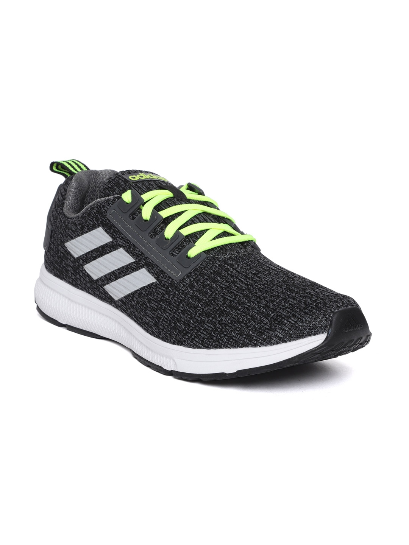 Buy ADIDAS Men Charcoal Grey \u0026 Black