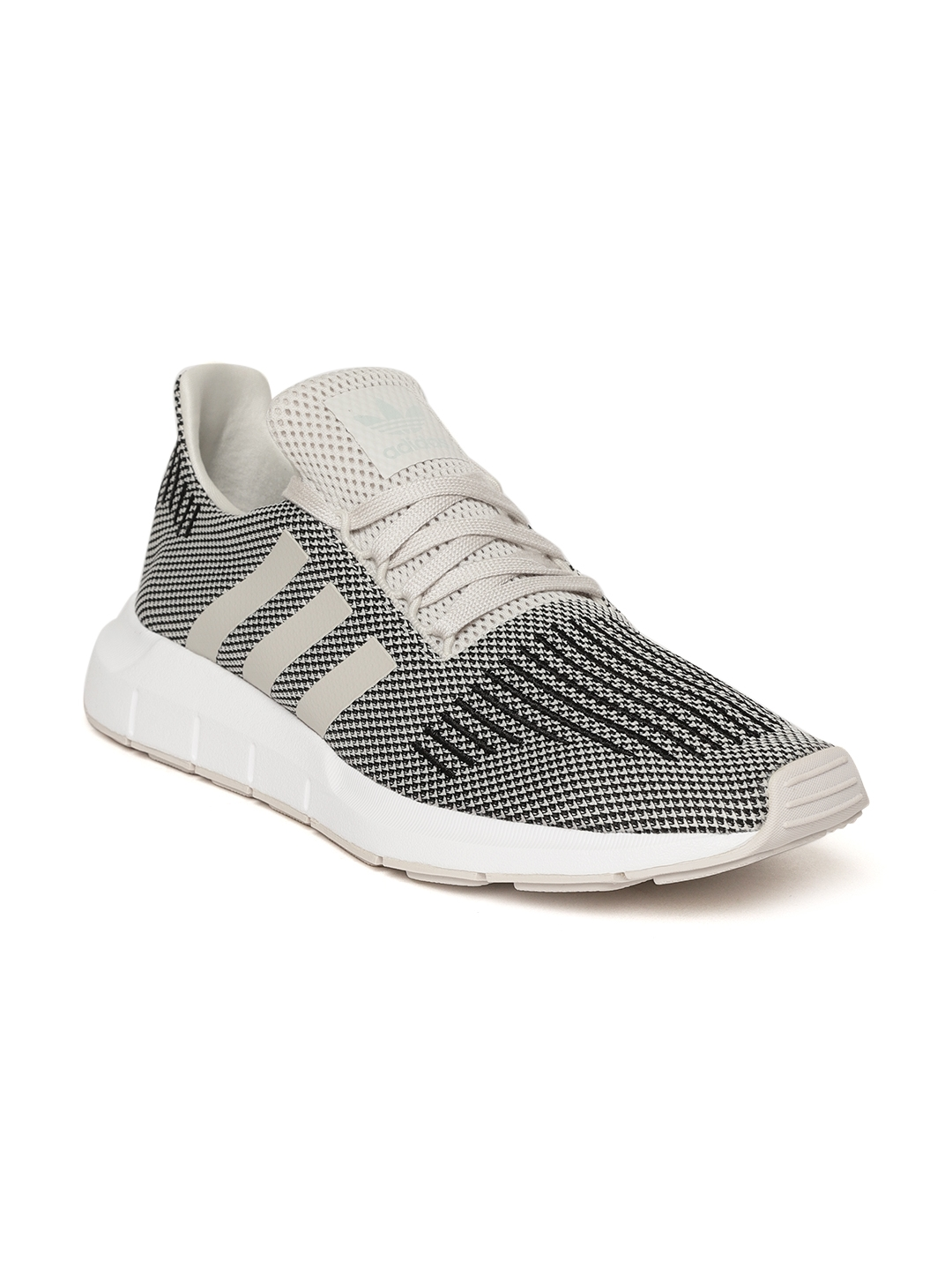 ddfba0ccea Buy ADIDAS Originals Men Off White & Black Swift Running Shoes ...
