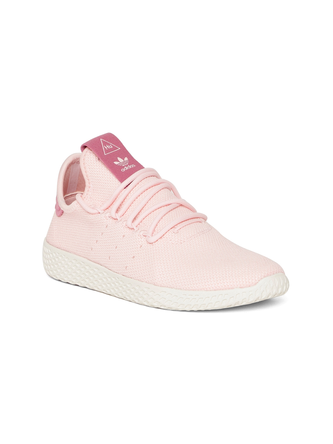 detailed look 826d0 1b2f0 ADIDAS Originals Women Pink Pharrell Williams Tennis HU Sneakers
