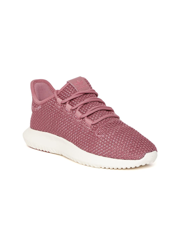 wholesale dealer 05848 0d4ae Adidas Originals Women Maroon Tubular Shadow CK Woven Design Sneakers