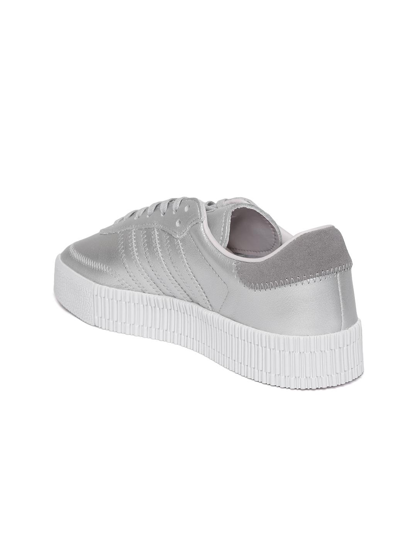 a4982e23066 Buy ADIDAS Originals Women Silver Toned SAMBAROSE Platform Sneakers ...