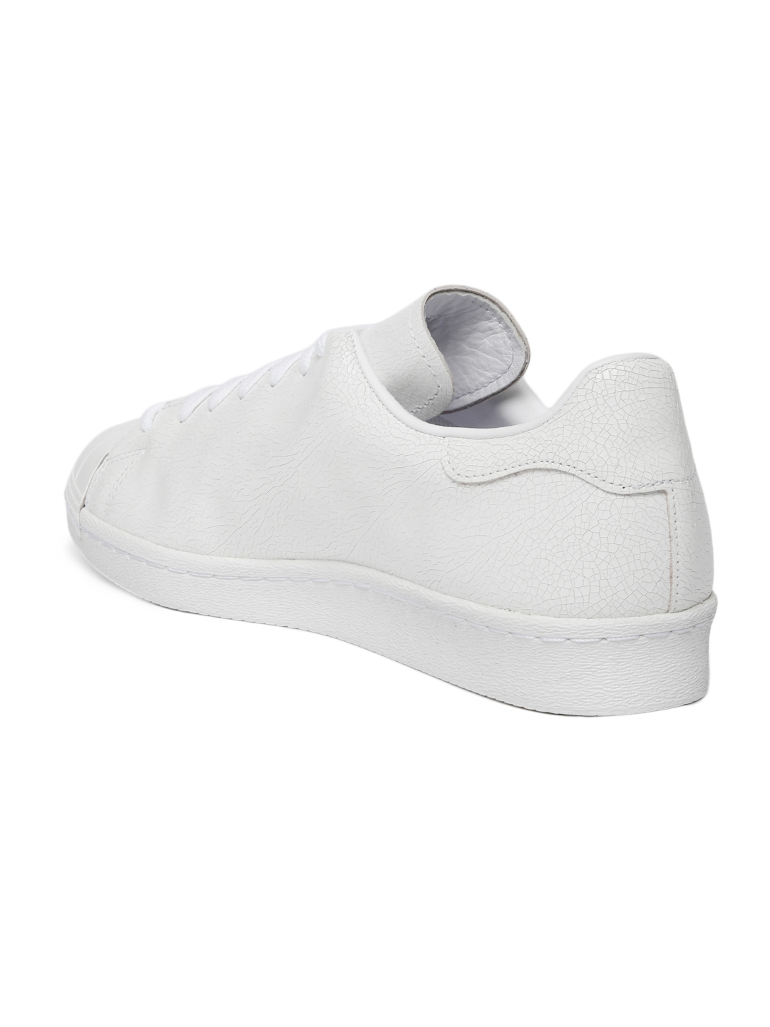 hot sale online 54272 e3a74 ADIDAS Originals Men White SUPERSTAR 80S CLEAN Leather Sneakers