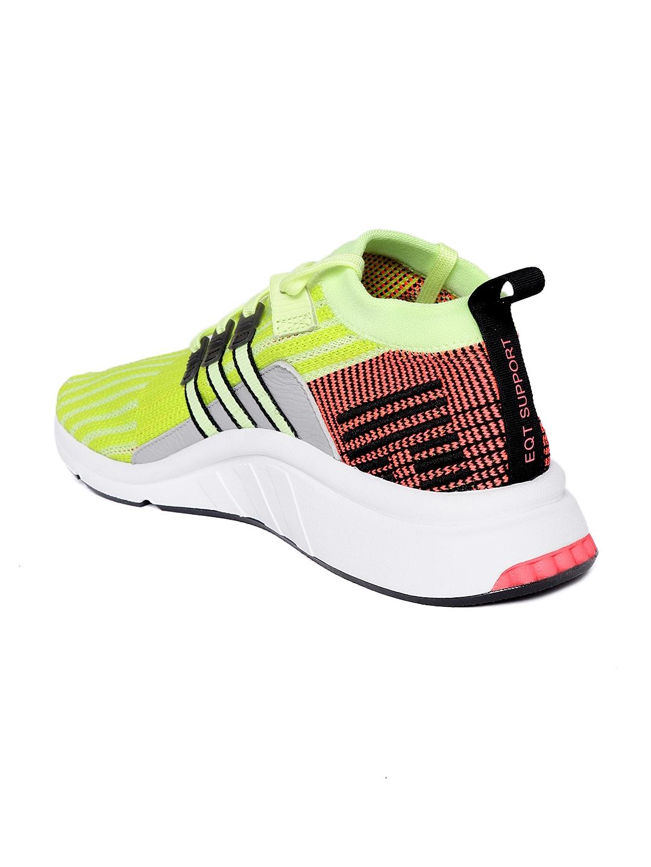 new product a9417 465d1 Adidas Originals Men Fluorescent Green EQT Support Mid ADV PK Striped  Sneakers