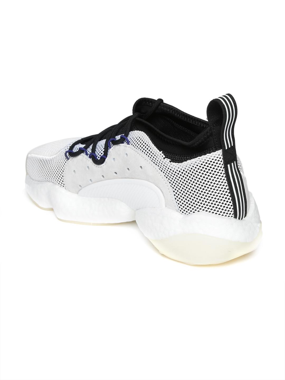 best service b9554 475c7 ADIDAS Originals Men White Crazy BYW II Sneakers