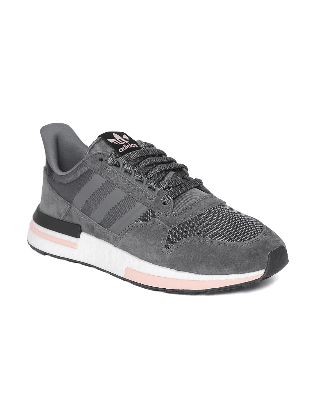 quality design 772d6 ee7a4 ADIDAS Originals Men Charcoal Grey ZX 500 RM Sneakers