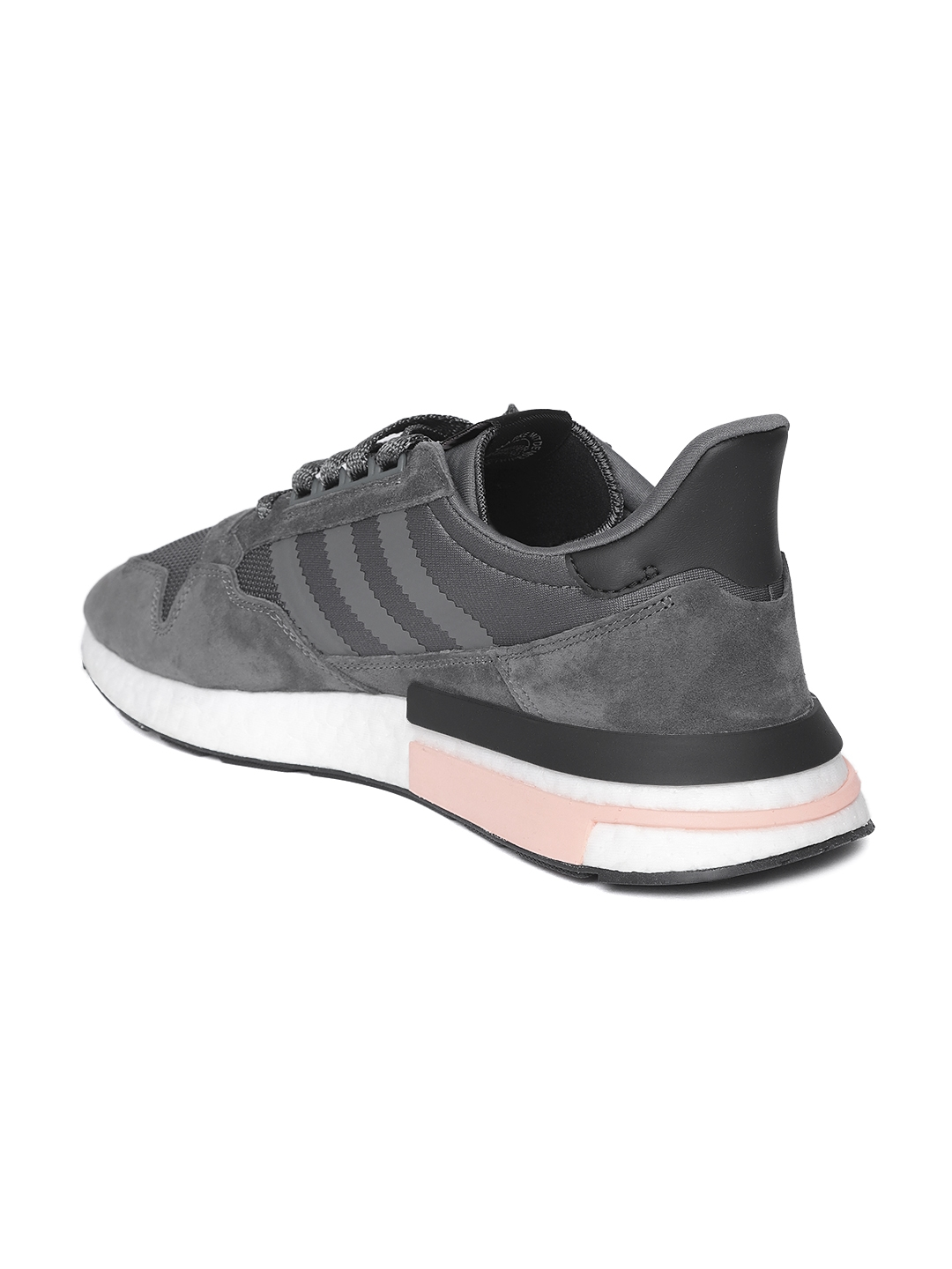 quality design 102b2 1ce24 ADIDAS Originals Men Charcoal Grey ZX 500 RM Sneakers