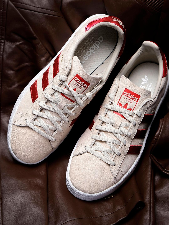 Buy ADIDAS Originals Women Beige Campus Nubuck Leather Sneakers ... 51b0381e9