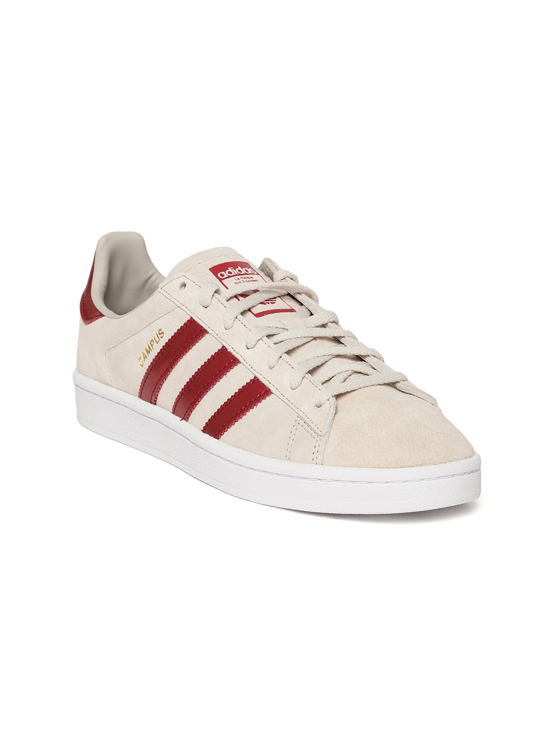 699eae5562b Buy ADIDAS Originals Women Beige Campus Nubuck Leather Sneakers ...