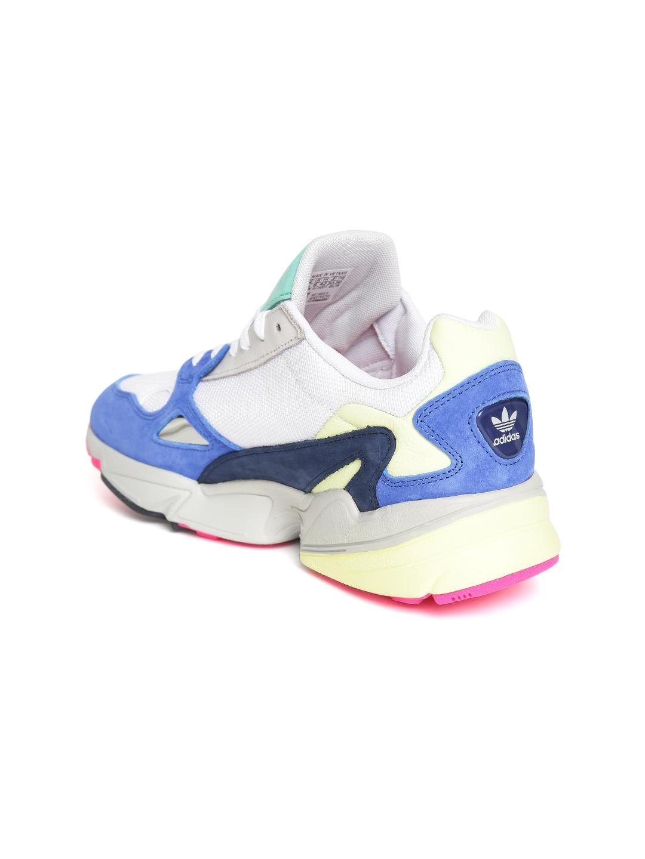 9b460802accccd ADIDAS Originals Women Off-White   Blue Falcon Colourblocked Sneakers