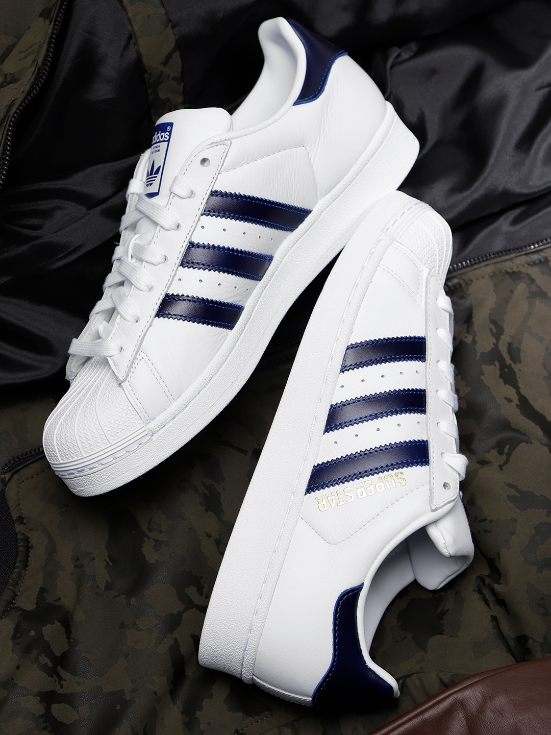 adc5ea0290a83 Buy ADIDAS Originals Men White Leather Superstar Sneakers - Casual ...